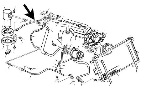 Air ConditioningAccumulator HoseC5 Corvette1997 0457NOS_p_244